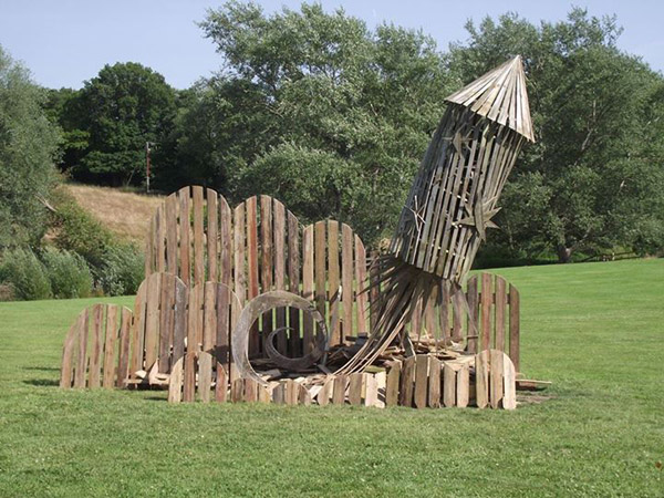 A 4th of July bonfire sculpture, Keith Pettit