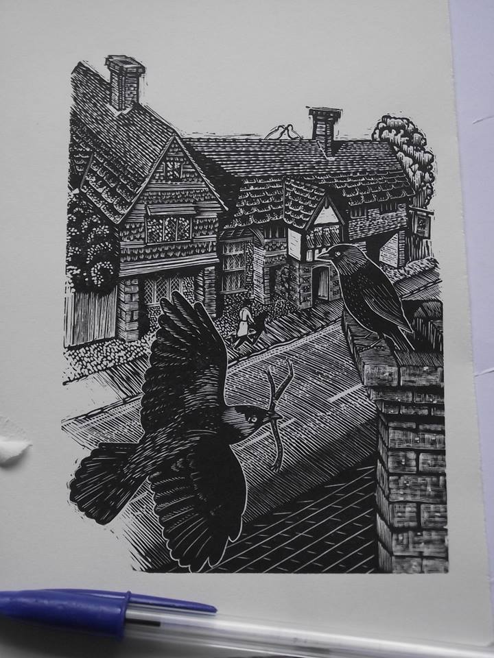 Keith A Pettit - Anne of Cleves House. 77th Annual Exhibition, Society of Wood Engravers