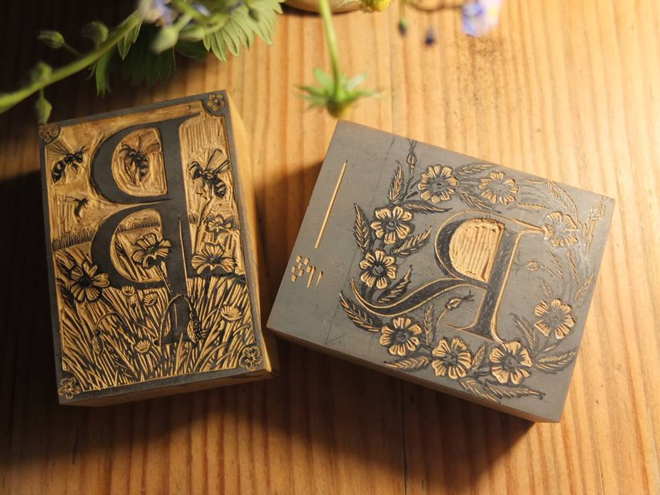 wood engraved blocks by Keith Pettit