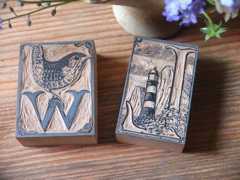 Wood engraved blocks by Keith Pettti