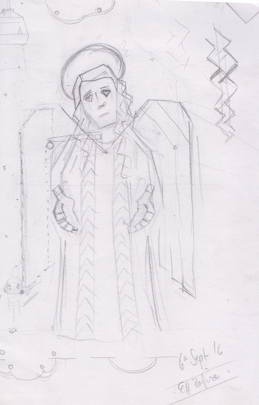 Keith Pettit orignal sketch East Hoathly Angel