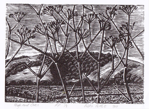 High and Over keith Pettit wood engraving